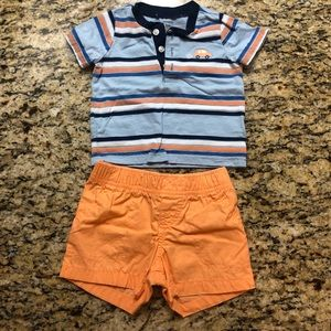 Carter's Car Stripe Short Set